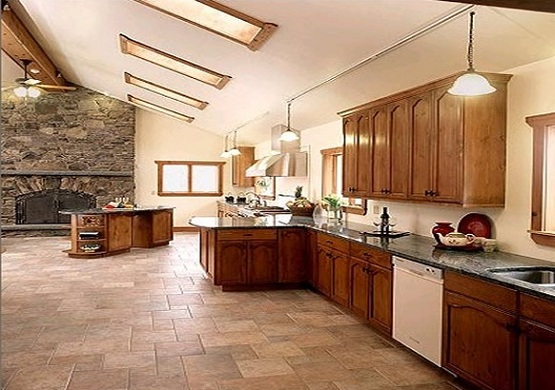 kitchen floor tile pattern for better room decoration