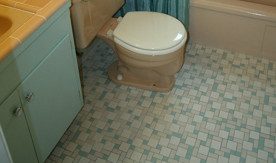 Bath floor tile