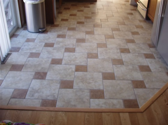 ... Floor Tile Patterns To Make The Kitchen Look Better. As ...