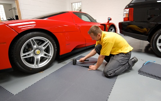 Garage Floor Covering with Rubber Tile | Flooring Ideas ...