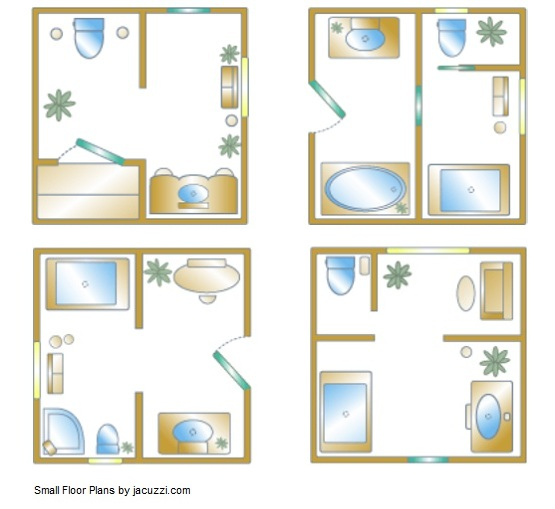 Small Bathroom Floor Plan Inspiration For Your Small