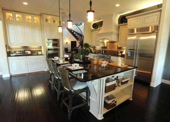 Kitchens with Dark Wood Floors 555 x 401