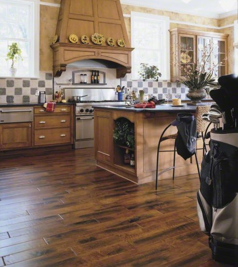 Wood Floor in Kitchen - Type and Model as Consideration | Flooring ...