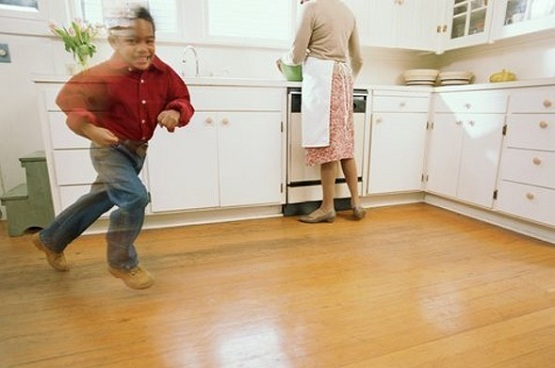 Light brown laminate flooring for kitchen