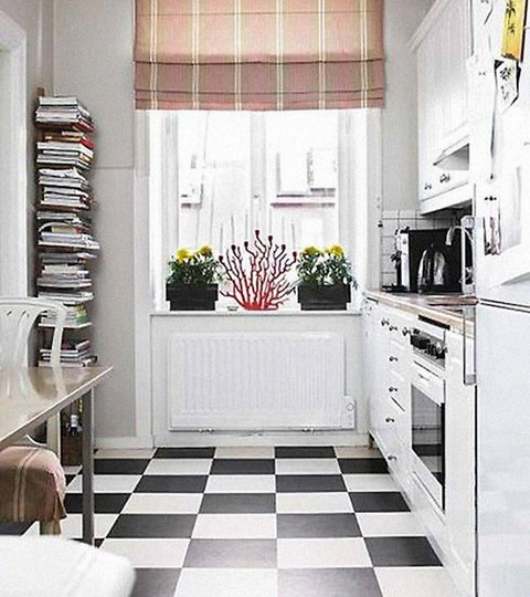 Decoration Tips Related With Black And White Vinyl Flooring Dining Room Kitchen
