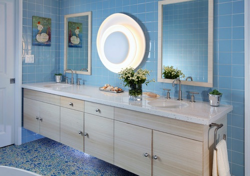 Mosaic tile bathroom floor ideas