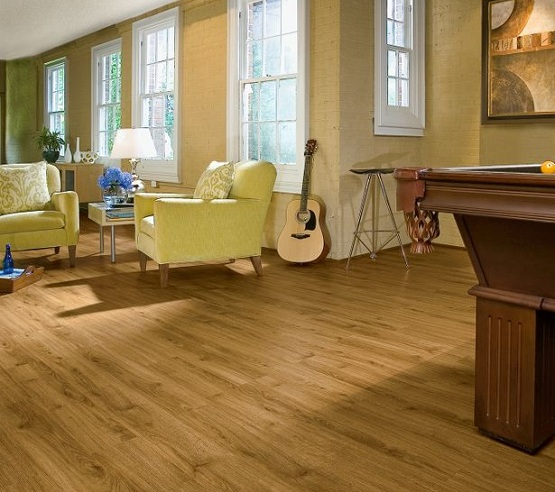 Natural look luxury vinyl floor tiles - image : armstrong.com