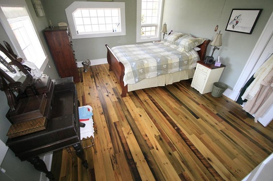 Traditional recycled wood flooring