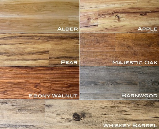 Wooden style luxury vinyl tile flooring