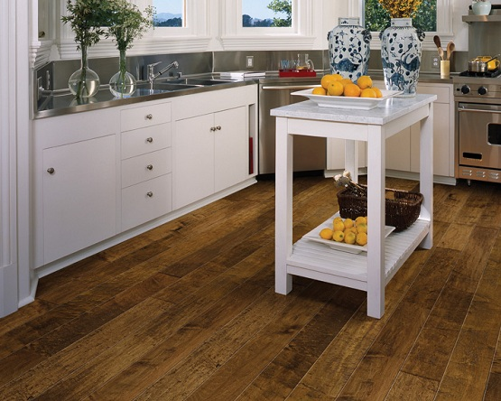 Chaparral hardwood floors in kitchen