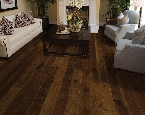 Fireplace wood flooring with hacienda walnut natural