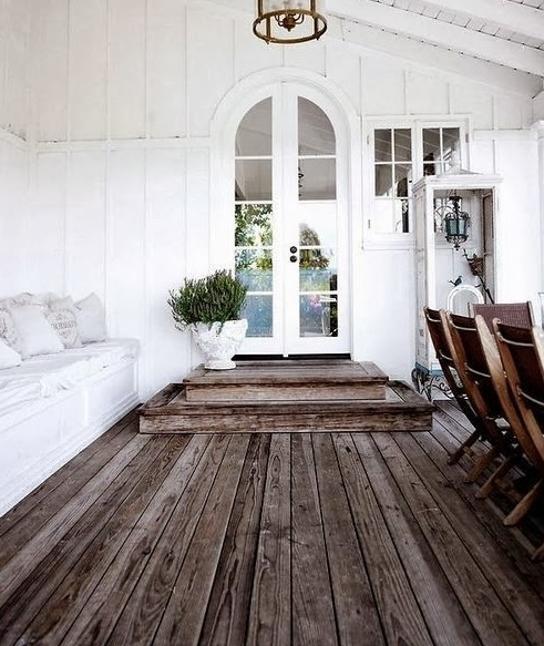 Classic style with rustic hardwood flooring