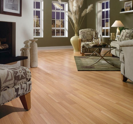 Contemporary light laminate flooring
