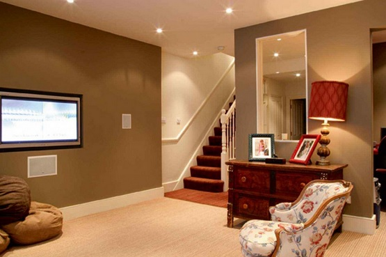 Interlocking carpet tile brown basement Flooring Ideas Floor