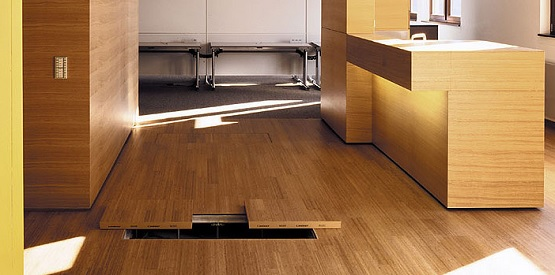 Laminate wood raised floor systems