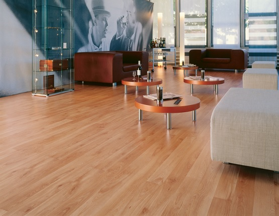 Light cherry wood look laminate flooring