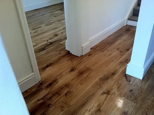 Rustic oak hardwood strip flooring