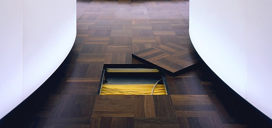 Wood finish raised floor systems LIGNA