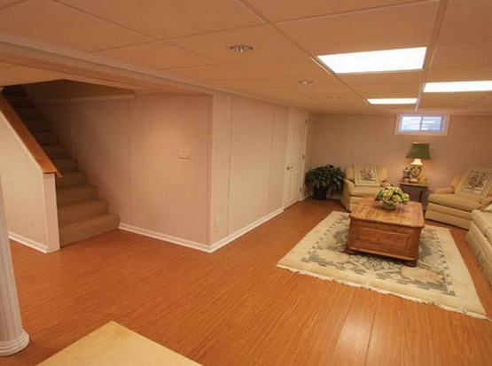 Wood laminate basement flooring