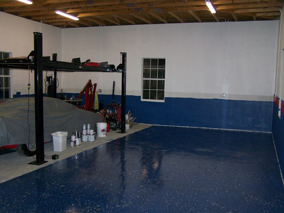 Garage floor coatings ideas using epoxy paint