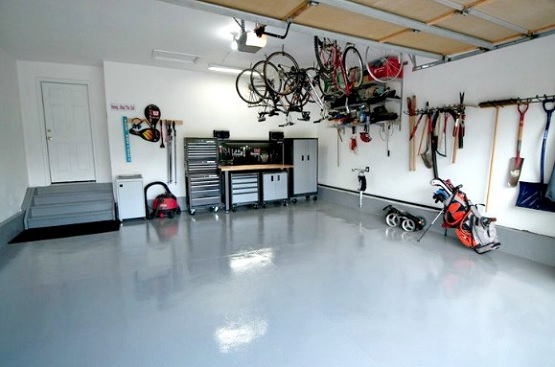 Garage floor coatings using epoxy floor
