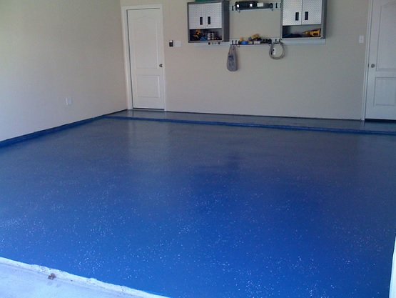 Latex paint for garage floor coatings