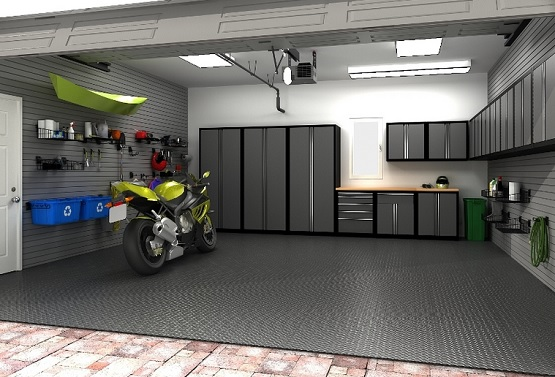 Rubber tiles garage floor coatings