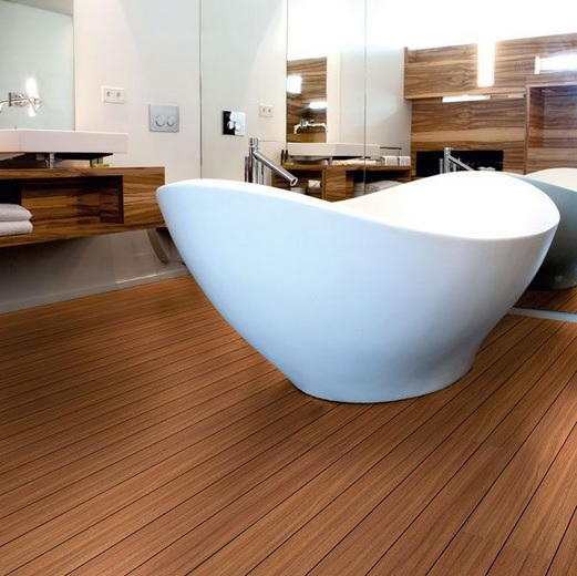 Waterproof shipdeck laminate flooring by Aqua Steps