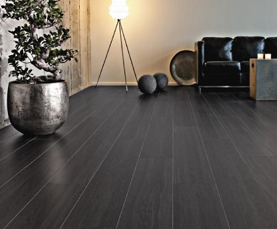 Black Laminate Flooring For Modern House Ideas