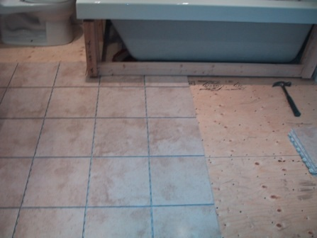 Good Floating Tile Floor In Bathroom