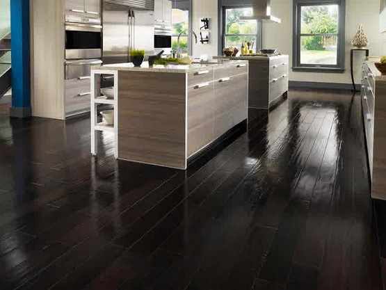 Black wood floor paint for kitchen