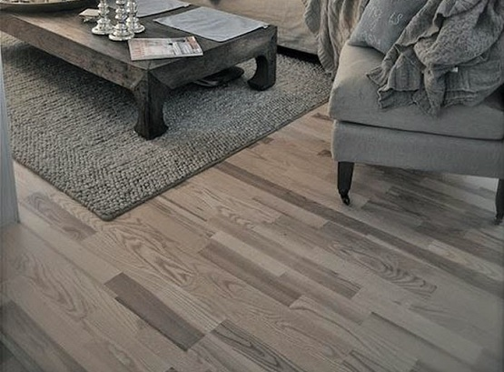 Light gray wood floor color living room