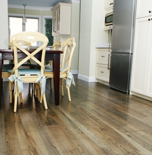 Natural wood floor colors dining room