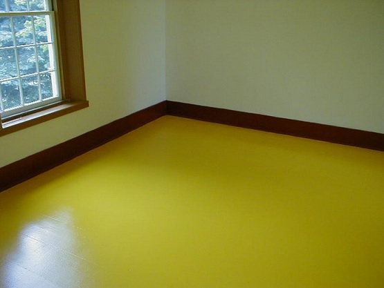 Yellow wood floor paint ideas