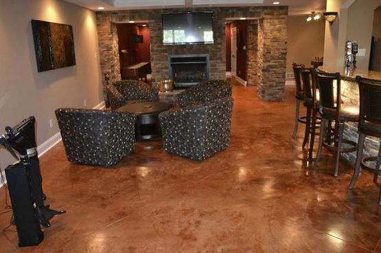 Basement floor covering ideas