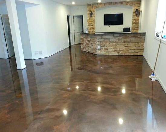 Basement floor paint ideas pick up the best paint color for Best concrete floor paint