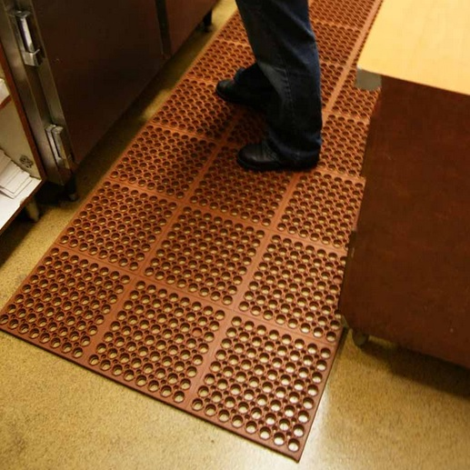 Brown rubber kitchen mats