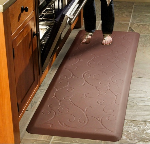 Brown wellness rubber mats for kitchen