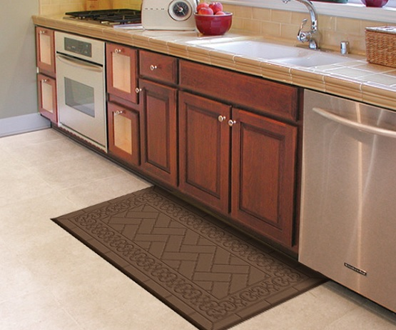 Bungalow design decorative kitchen floor mats