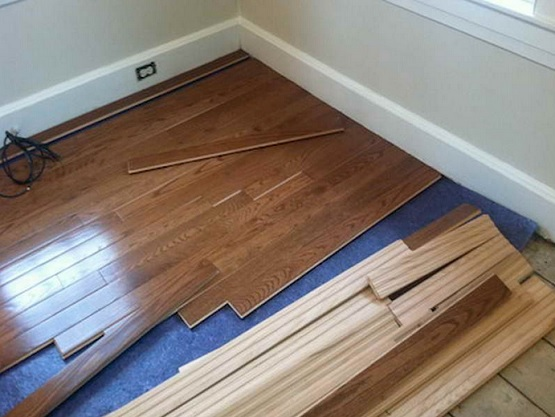 Flat type rubber underlay for wood floor