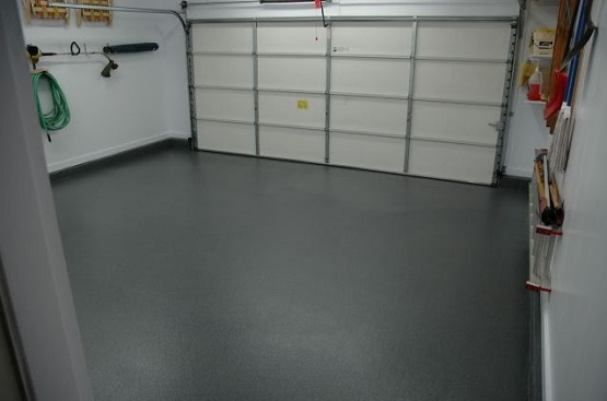 Gray epoxy coating garage floor paint ideas