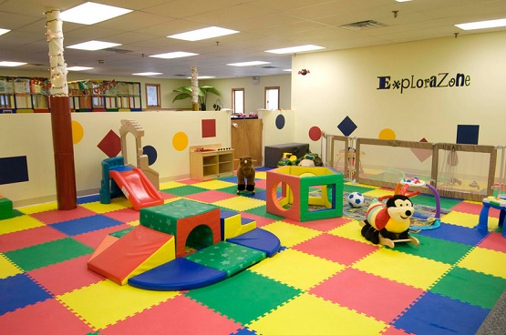 Indoor interlocking playground rubber mats