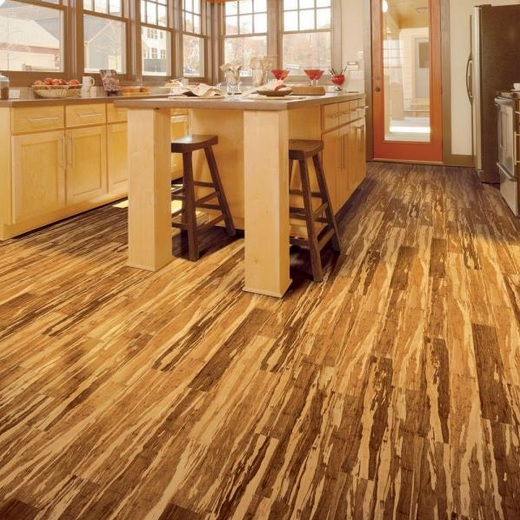 Kitchen with stranded bamboo flooring