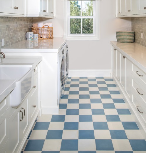 Linoleum Flooring For Laundry Room