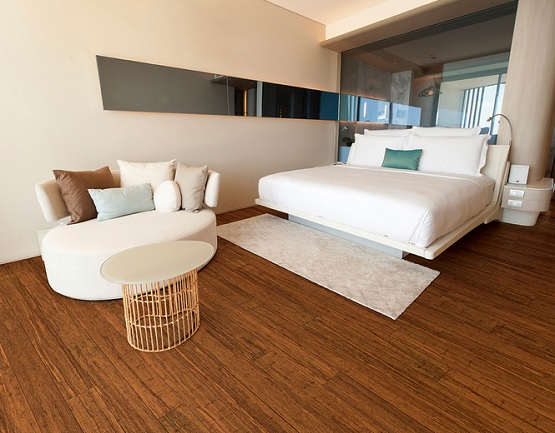 Natural stranded bamboo flooring for bedroom