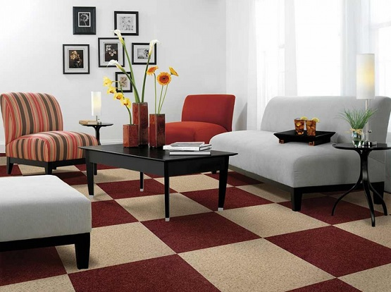 Nice rubber backed carpet tile design