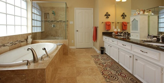Travertine Tiles For Bathroom Floor Flooring Ideas Floor Design - Types of bathroom flooring