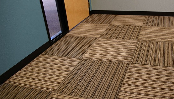 Versatility rubber backed carpet tile