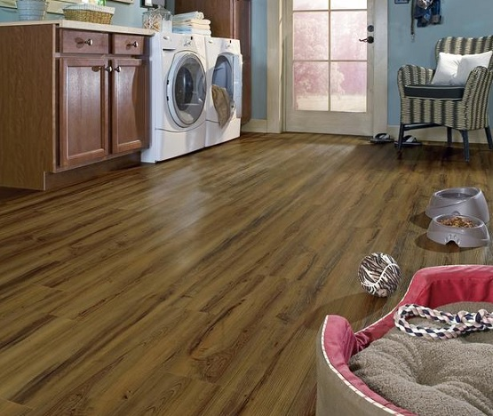 Vinyl flooring for laundry room