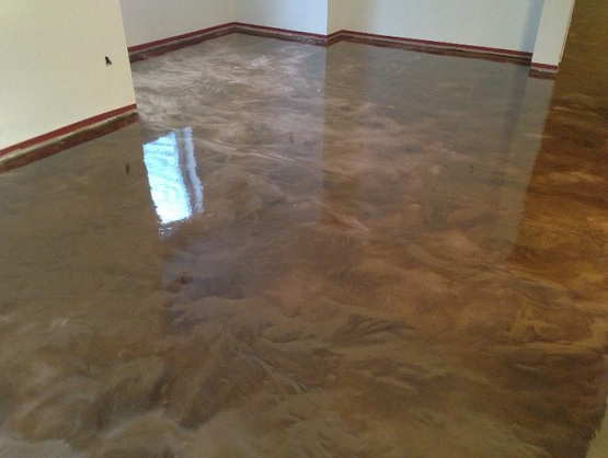 Basement floor epoxy coating flooring ideas floor for Basement flooring ideas pictures